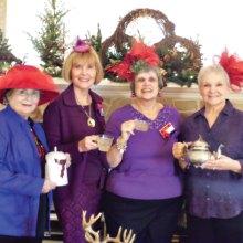 Hostesses, left to right: Betty Gardner, Mala Bowdouris, Judy Loomis and Barbara Runner