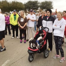 Residents waiting to start the Turkey Trot 5K Walk/Run