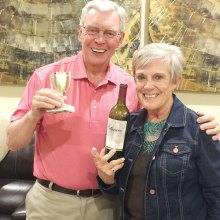 Joyce and Bill Marshall, the winners for February