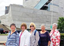 Girls on Wheels: Vicki Baker, Nancy Burns, Jan Lamp, Susan Hebert and Jan Sparks discover there is something to learn around every corner.