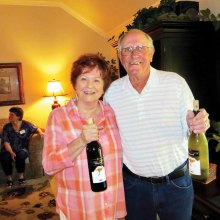 "Wine Knots were ""tickled pink"" by MaryAnn and Mike Ballard's North Carolina wine selections."