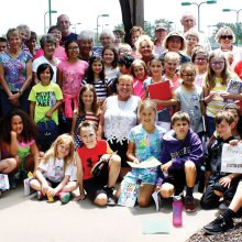 Robson Ranch residents and their third grade pen-pals from Hilltop Elementary School in Argyle