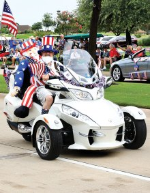 Riders at the 4th of July parade