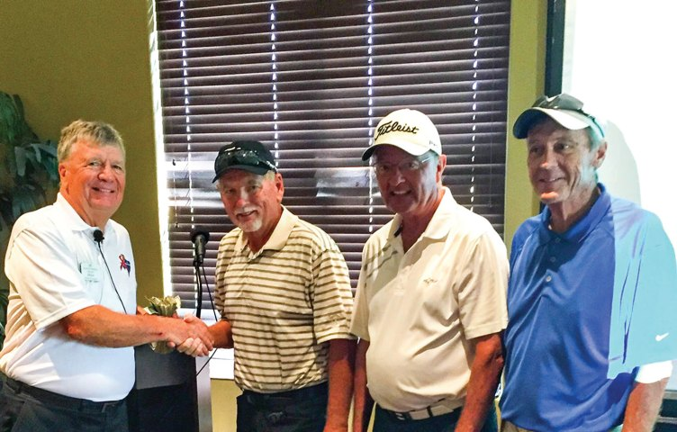 Left to right: Mike Hoernemann, Doyle Hicks, Roger Wells and Jim Downer
