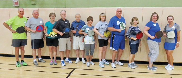 Members of the August Robson Ranch Pickleball Club Academy