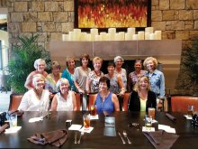 The RR Ladies 55+, 7.0 tennis team was named the winner of the 2016 Fort Worth City League. Left to right, front row: Sandy Thompson, Linda Grandfield, Renee Kowalski, Sandy Owens; second row: Joyce Kain, Nancy Bishoff, Sue Ehinger, Sandy DeVincenzo, Catherine Bass, Marti Harnly, Elaine Barrett, Patrice Forsyth and Paula Hemingway