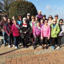 Team of walkers ready to hit the pavement