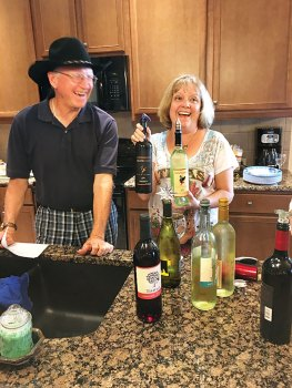 Randy and Debbie Johnston keep the wines close to their Texas home.