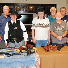 "The Antique Gun group met to discuss and share ""Guns of the Old West."