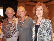 Left to right: Connie Wells, Dotty Griffith, guest speaker, and Joyce Frey