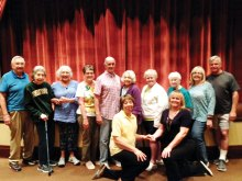 Standing left to right: Thomas Turk, Jean Talley, Linda Zealy, Connie and Gary Chaffee, Birdie Kasner, Grace Ann Gallagher, Doris Lashlee, Marion and John Napurano; kneeling in front: Balance coaches Marie Milleage and Leslie Buell; not shown: Brenda Alford, Diane Johnson, Phyllis Lustgarten, Debbie Niemi