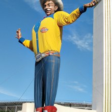 Big Tex shouts out a Big Texas Welcome!