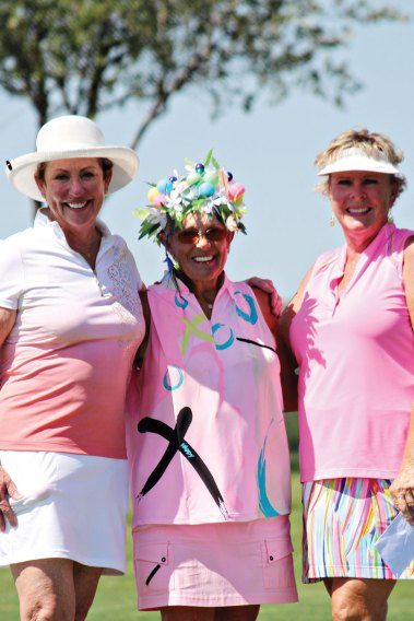 Joyce, center, with runners-up Kathryn Claudy, right, and Linda Scott, left