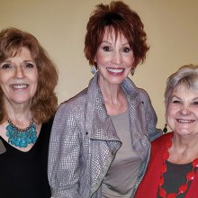 Left to right: Joyce Frey, Sandra Brown and Jan Utzman enjoying the Women's Club luncheon