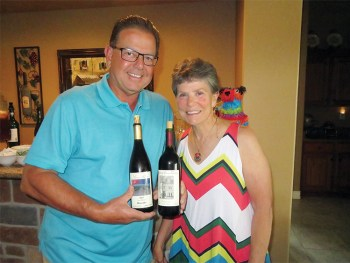 Hosts Scott and Vicki Baker presented wines of New Mexico.