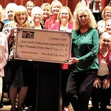 In 2018 we presented the Diabetes Foundation at Presbyterian Hospital with a check for $8000.