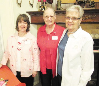 Team members Peggy Zilinsky, Jois Ross, and Ruth Klein; photo by Nancy Thomas.