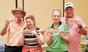 Third place: Dennis and Karen Thomas, Carolyn Thomas, and Paul Manzke