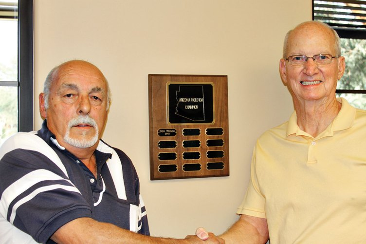 Left to right: 2013 Champ Richard (Dick) Gonyea and tournament director Ken McManus.