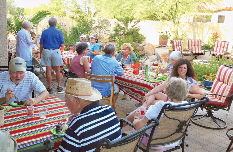 Club members enjoying the evening and each other's company