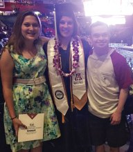 Nikki with her sister Sheyenne and brother Cody