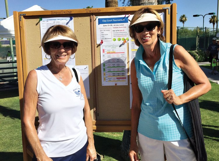 Phyllis Gayer and Dee Lee, first place in 6.0 Women's Doubles division