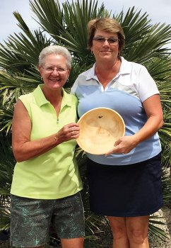 President Bobbie Johnson and Club Champion Susan Worner
