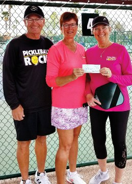 $260 donation to C.O.R.R. from the Pickleball Rocks booth sales.