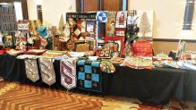 Various sample items shown from the Material Girls' booth at the November 2018 Arts and Crafts Sale in the Hermosa Ballroom.