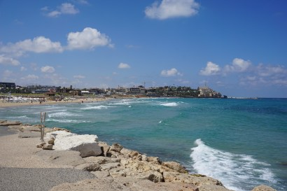 View of Jaffa on the right tip