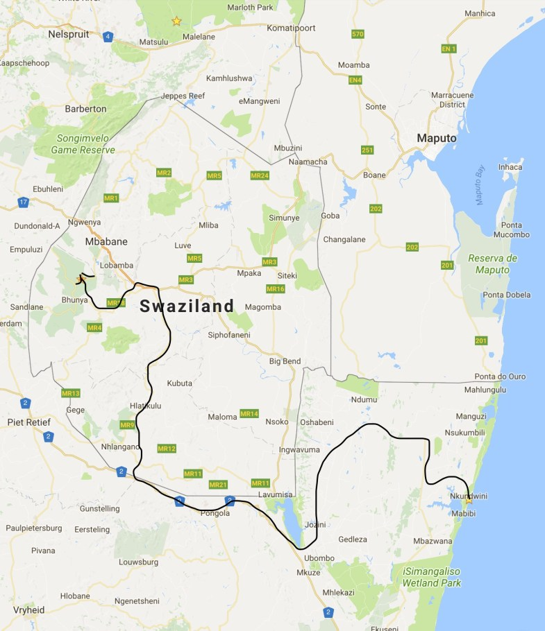 iSmangaliso to Swaziland
