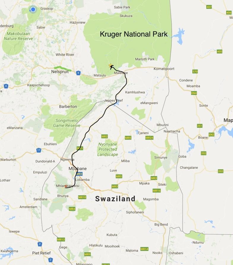 Swaziland to Kruger