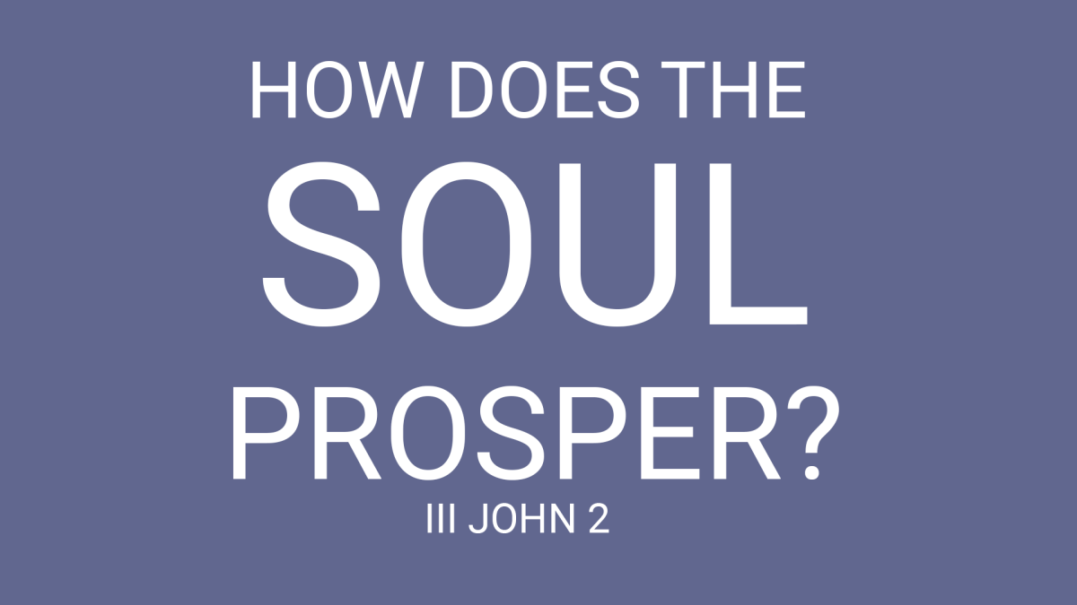How Does the Soul Prosper?