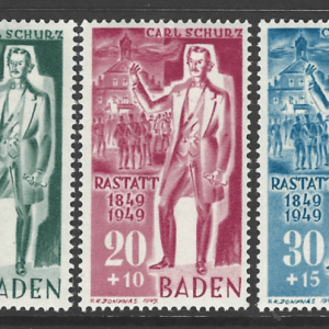 SG FB50-2. Baden. Mounted Mint