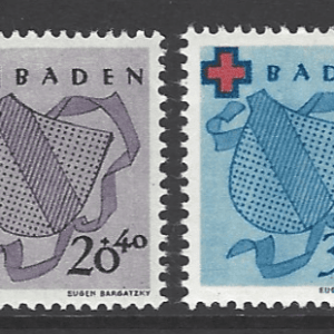 SG FB42-5. Baden. Mounted Mint