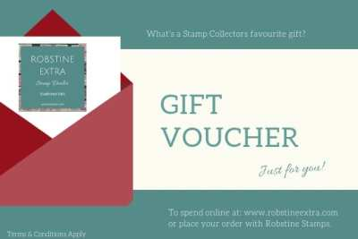 E-Gift Voucher, Robstine Extra Stamp Dealer