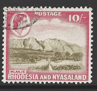 SG 30. Rhodesia and Nyasaland