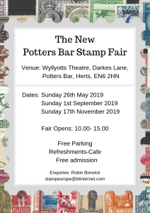 Potters Bar Stamp Fair Flyer