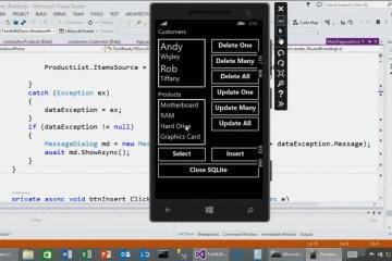 Windows Phone SQLite
