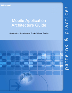 Mobile Application Architecture Guide