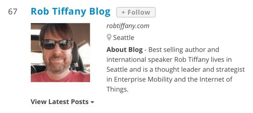 Rob Tiffany Blog