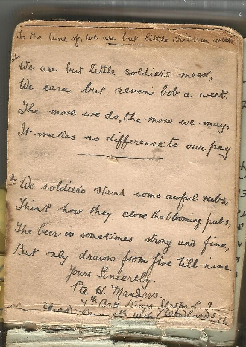 WW1 Woodlands British Hospital Diary Of Wounded
