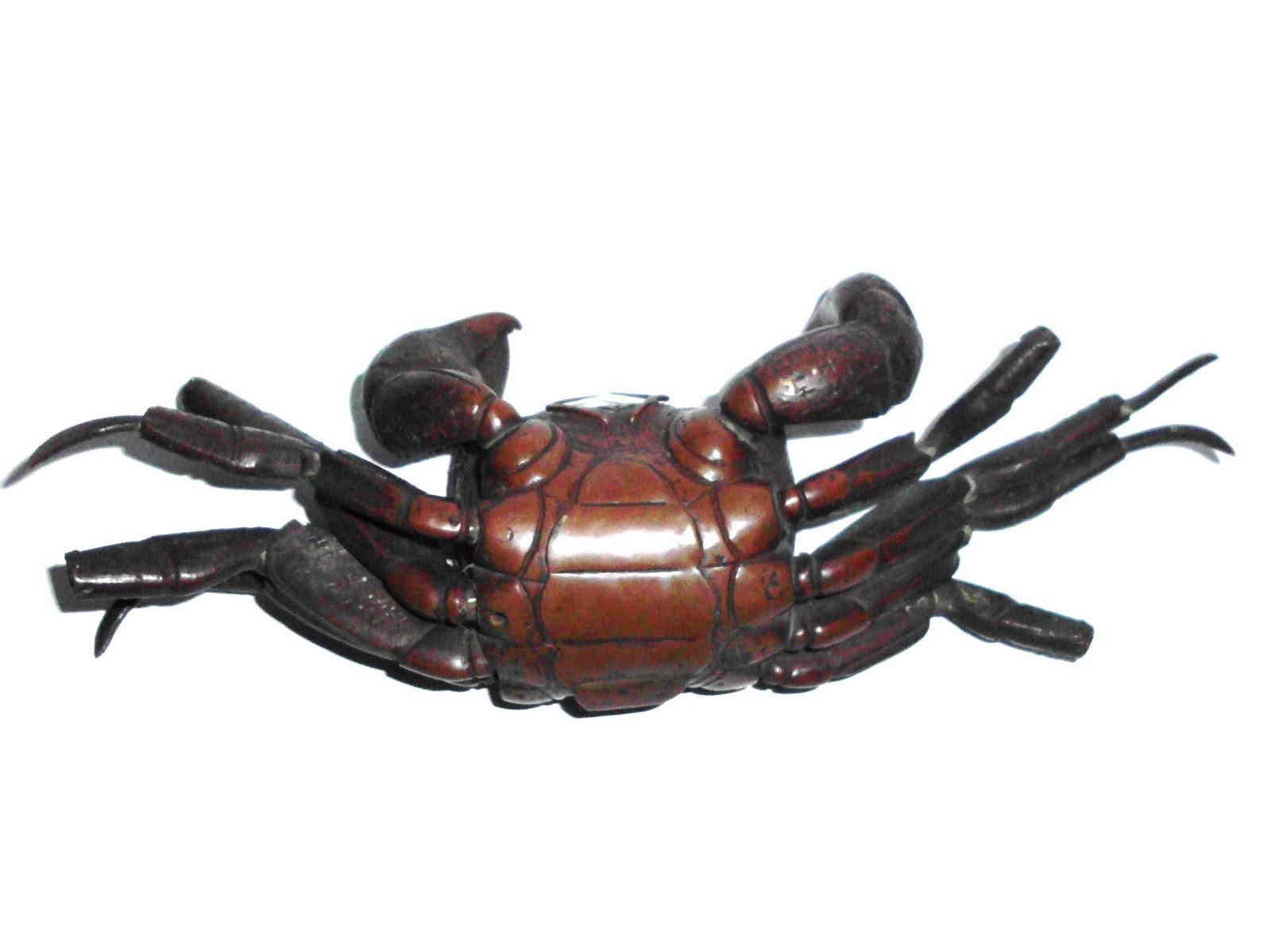 C 1800 Chinese Bronze Red Crab With Detailed Anatomy