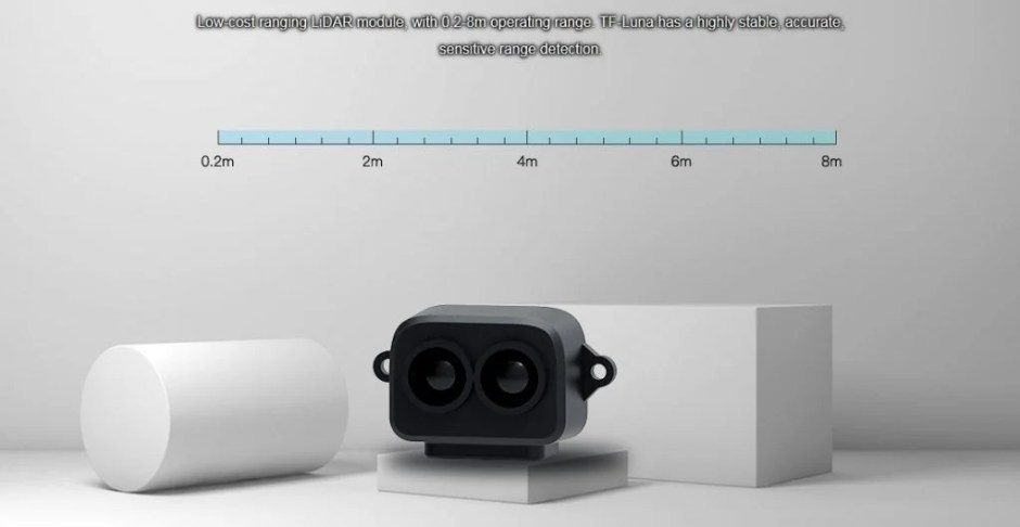 TF-LUNA LiDAR Distance Sensor