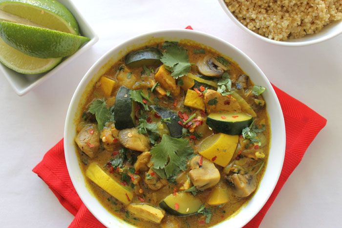Coconut Chicken Curry with Zucchini and Quinoa
