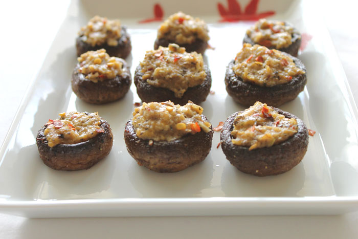 Gluten-Free Stuffed Mushroom Caps with Fennel and Sage