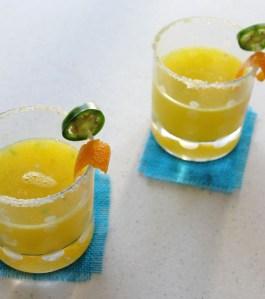 Orange Jalapeno Margaritas