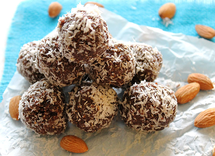 Almond Joy Raw Energy Balls