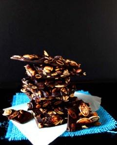 Pumpkin Seed Mayan Dark Chocolate Bark