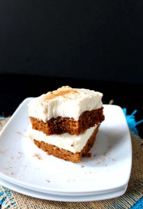 Pumpkin Bars with Honey Sweetened Cream Cheese Frosting (GF)